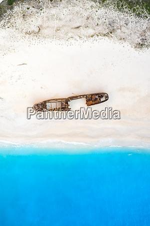 zakynthos insel griechenland schiffbruch navagio strand