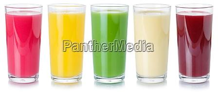 sammlung von fruchtsaft getraenken trinken getraenke
