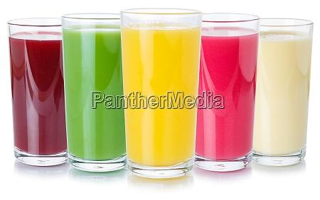 sammlung von fruchtsaft getraenke getraenke glas