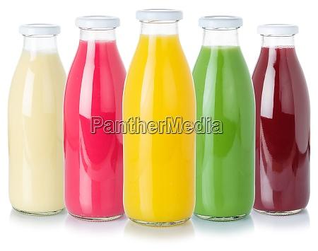 sammlung von fruchtsaft getraenke getraenke flasche