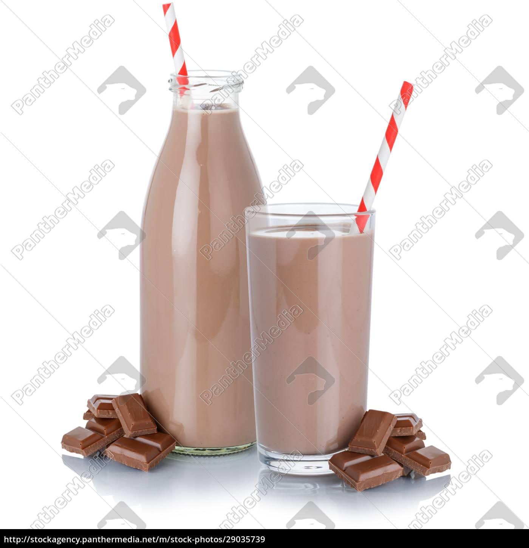 schokolade, milch, shake, milchshake, glas, flasche - 29035739