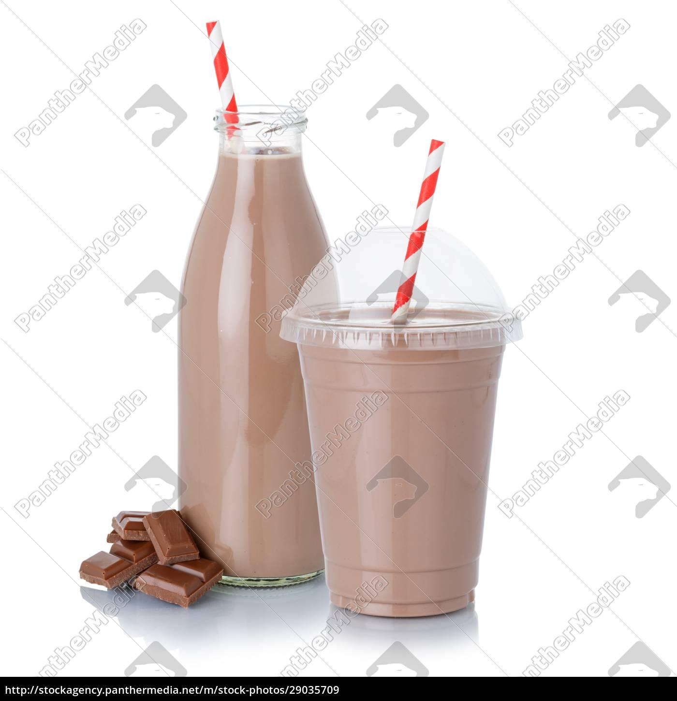schokoladenmilch, shake, milchshake, in, einer, flasche - 29035709