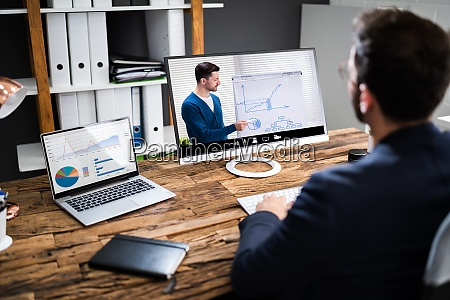 virtuelles online coaching meeting