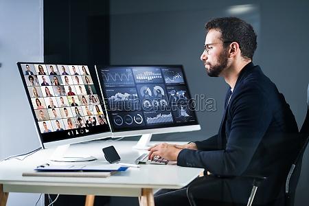 online video konferenz interview meeting