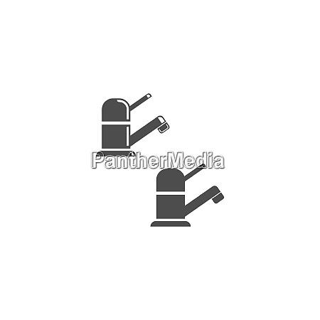 faucet icon design vorlage