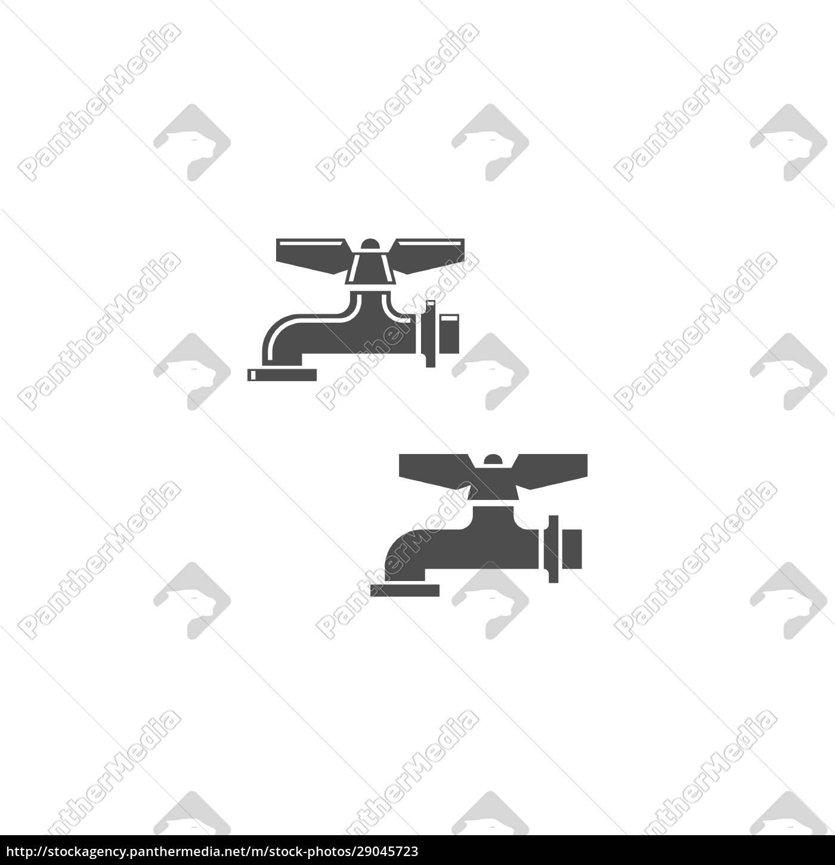 faucet, icon, design, vorlage - 29045723