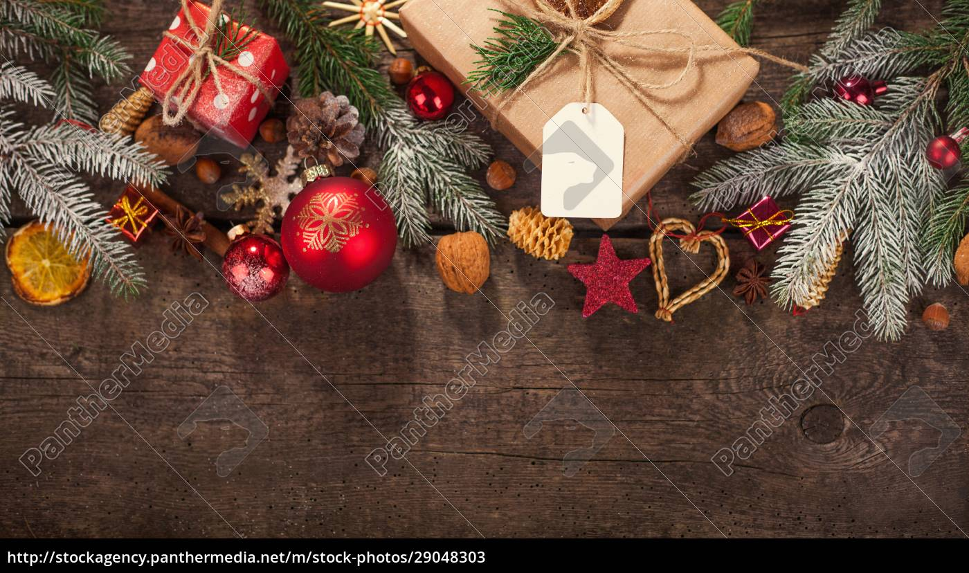handgemachte, gewickelt, weihnachts-geschenk-boxen, auf, feiern, hintergrund. - 29048303