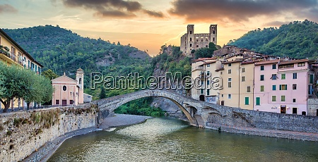 dolceacqua, ancient, castle, and, stone, bridge - 29055309