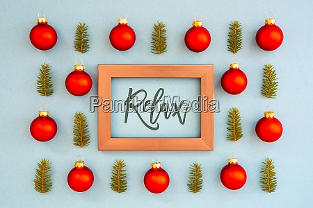 weihnachten textur ball zweig rahmen text