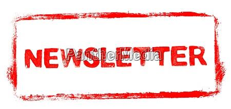roter schablonenrahmen newsletter banner