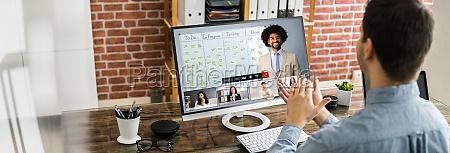 video konferenz business meeting applaus