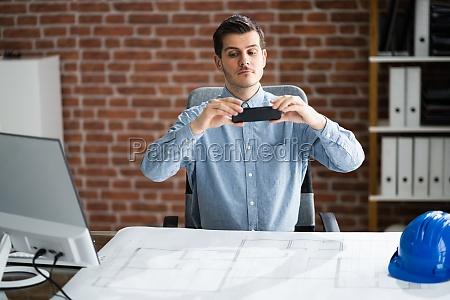scannen von blueprint plan dokument mit