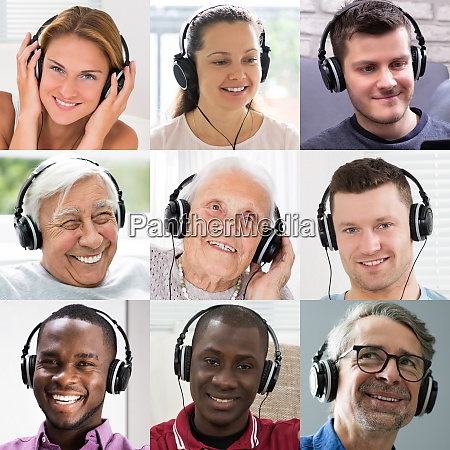 casual people listening music