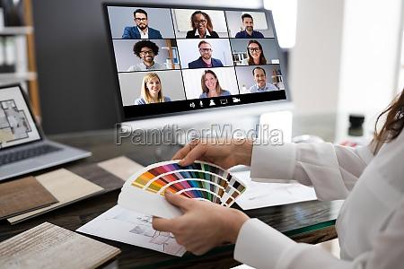 interior designer online video konferenzanruf