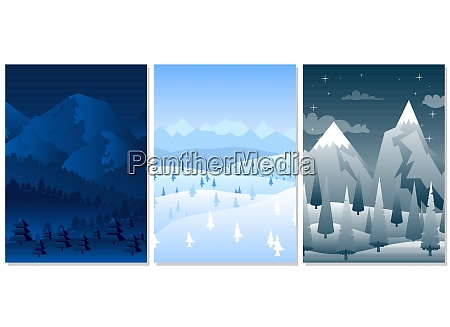 winter, background, collection., - 29096641