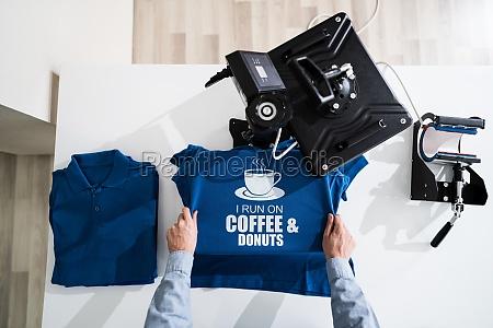 waermeuebertragung t shirt druck