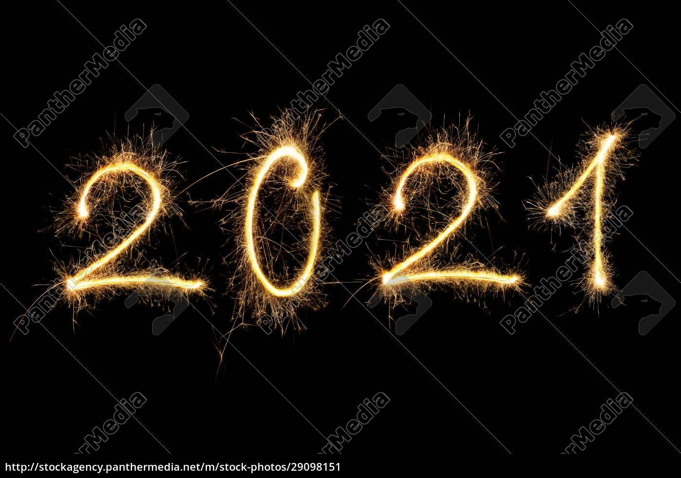 frohes, neues, jahr, 2021. - 29098151