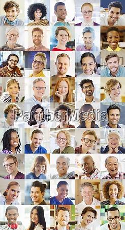 portraet laechelnd vielfaeltige community videokonferenzen auf
