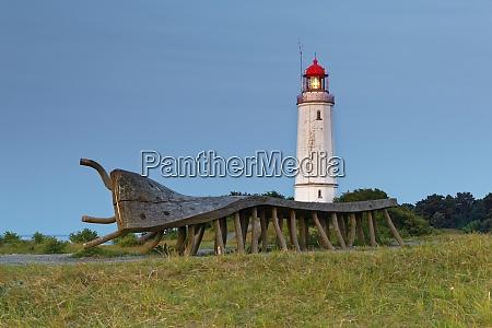 deutschland hiddensee dornbusch leuchtturm an der