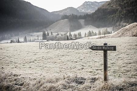 deutschland bayern berchtesgadener land nordic walking