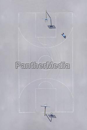 basketballboden ansicht von oben