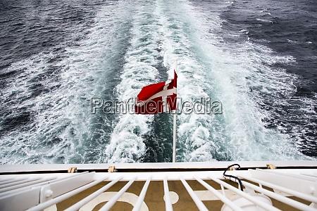 denmark, , danish, flag, on, ferry, on - 29118525
