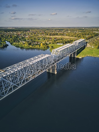 metallische, eisenbahnbrücke, über, wolga, in, der - 29120708