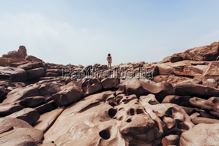 india, , karnataka, , hampi, , rear, view, of - 29123550
