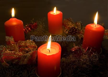 adventskranz vierter advent