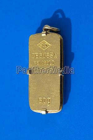 goldbarren 50 gramm anhaenger