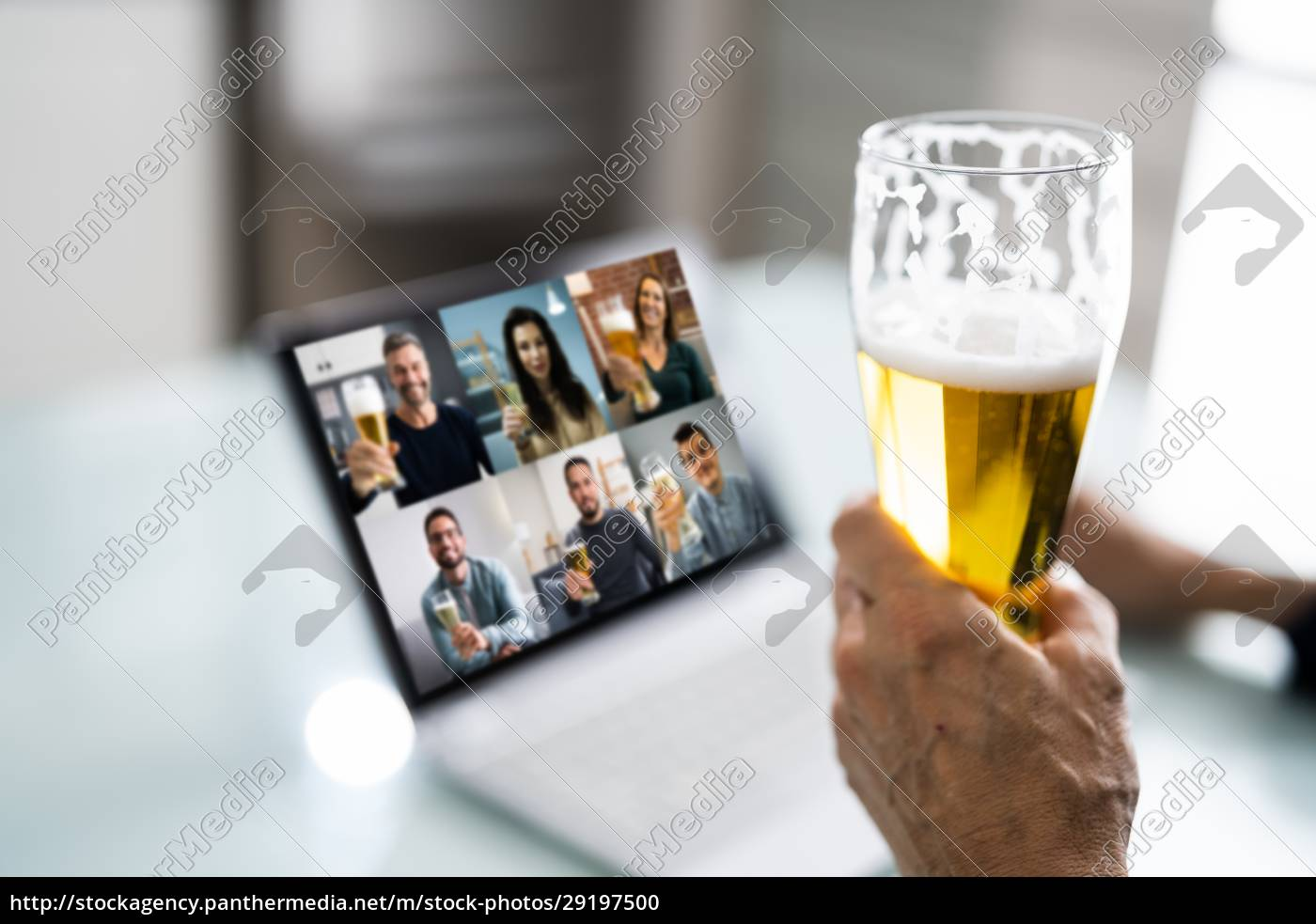 virtual, beer, drink, online, party - 29197500