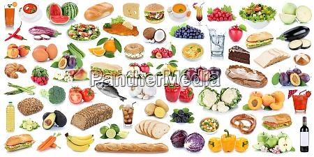 essen und trinken sammlung hintergrund collage