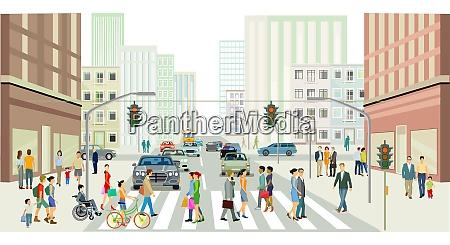 strassen vor einer grossstadt illustration
