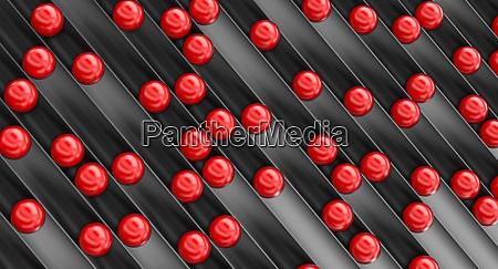 geometrischen abstrakten hintergrund von roten kugeln