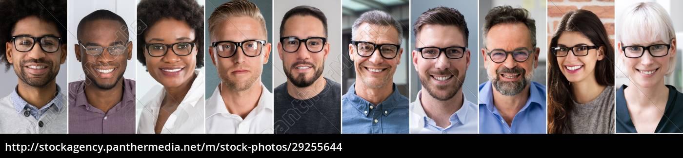 diverse, business, people, avatar, portrait, collage - 29255644