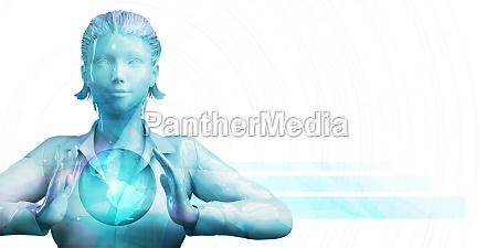 business woman praesentation abstract