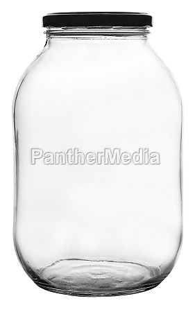 leeres glas isoliert auf weiss mit