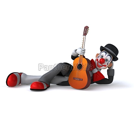 spass 3d illustration eines lustigen clowns
