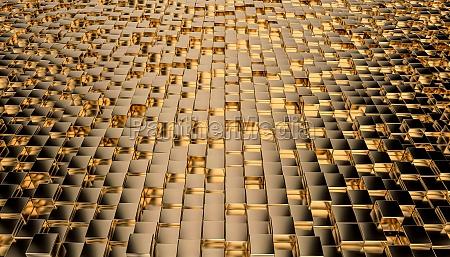 gold geometrischen hintergrund mit mosaikwuerfeln