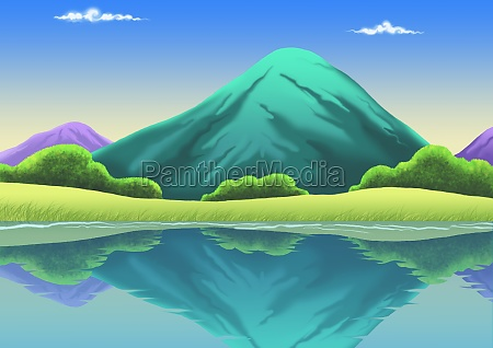 reflection, of, mountains, in, water - 29371136