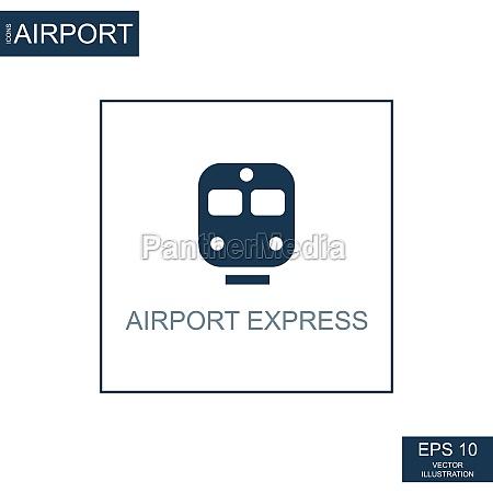 abstrakte ikone expresszug auf flughafen thema