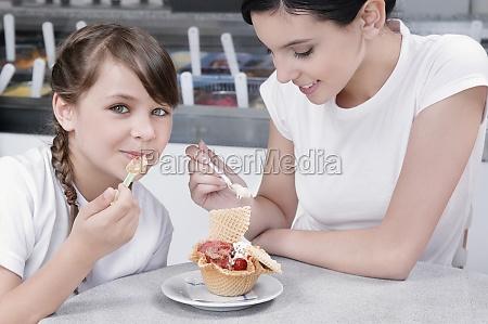 girl, and, a, teenage, girl, eating - 29407975