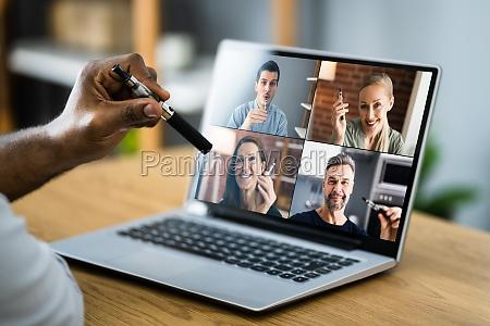e zigarette rauchen pause virtuelle video