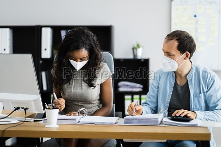 african american accountant business people