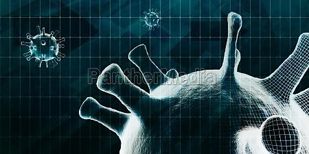 big data coronavirus technologie visualisierungsunterstuetzungskonzept
