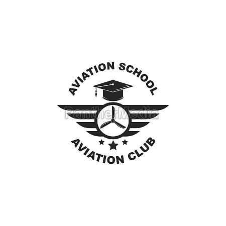luftfahrt akademie vektor illustration design