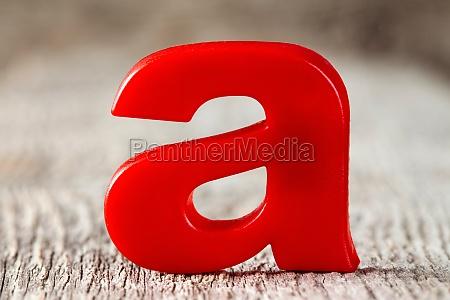 alphabet buchstabe ein