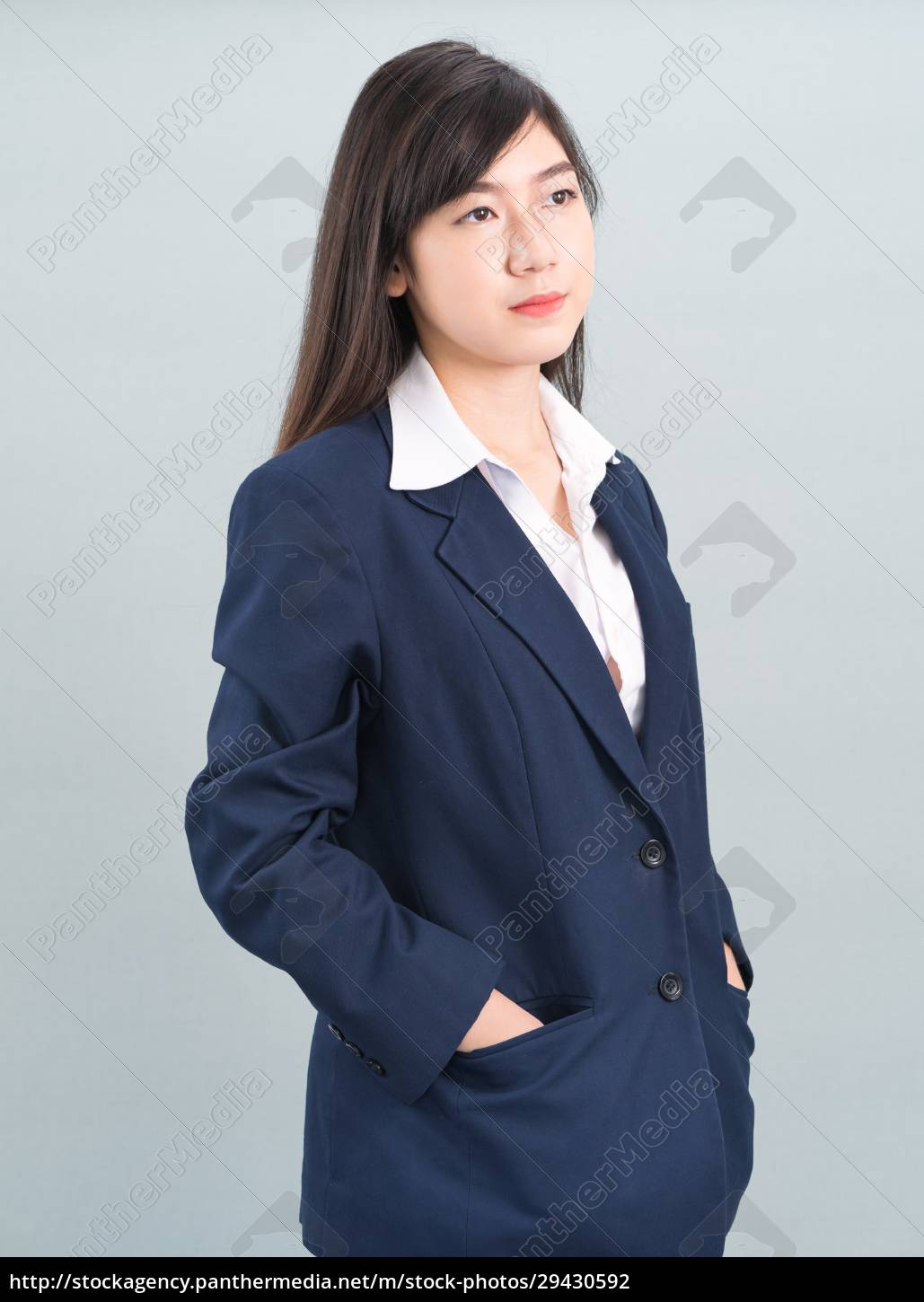 portrait, of, asian, businesswoman, isolated, on - 29430592