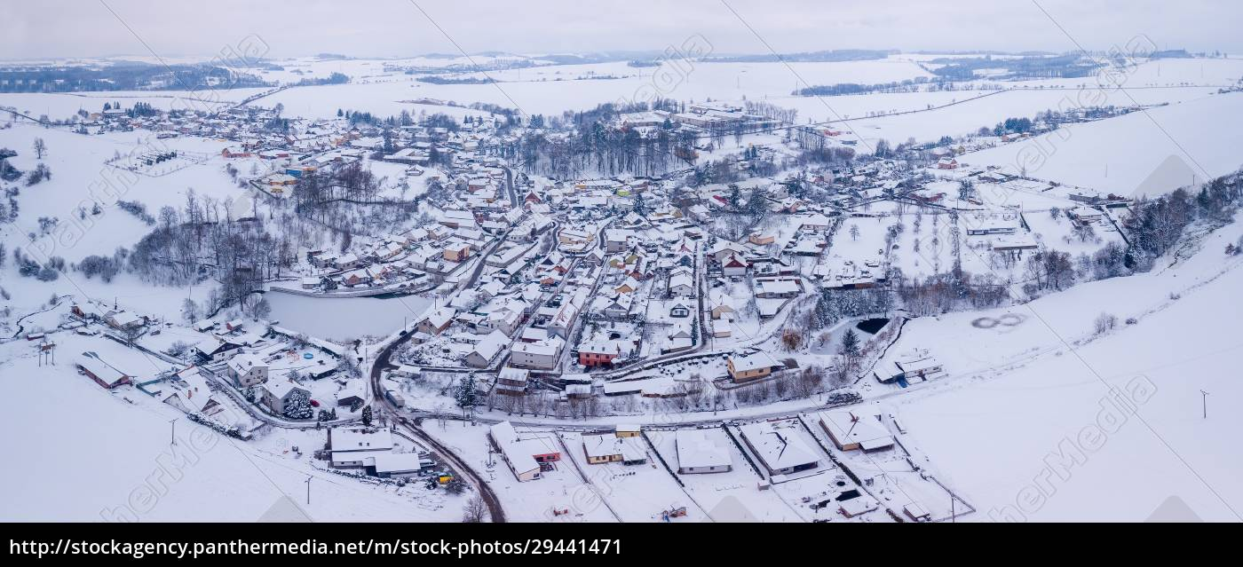 aerial, view, of, village, with, residential - 29441471