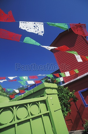 pennant over houses texas usa
